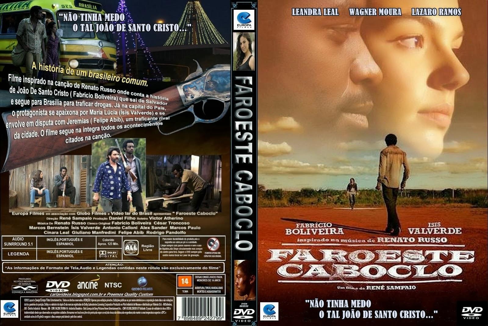 Filme Faroeste Caboclo DVD Capa