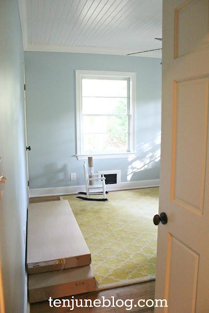 introducing baby ten june 39 s freshly painted baby boy room welcome. Black Bedroom Furniture Sets. Home Design Ideas