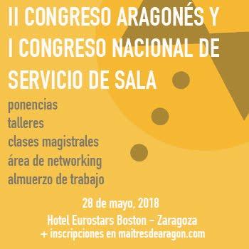 II CONGRESO ARAGONÉS y I CONGRESO NACIONAL DE SERVICIO DE SALA