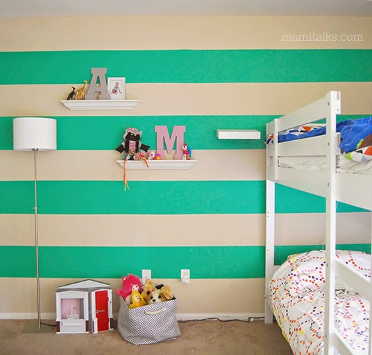 How to paint a Wall with Stripes - MamiTalks.com