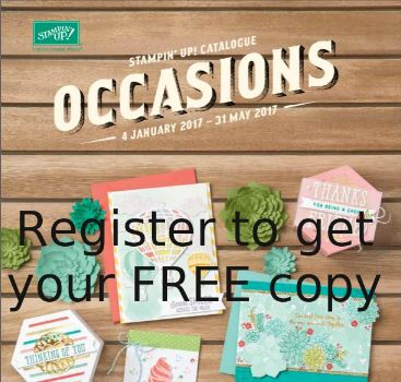 Register to get a FREE Occasions Catalogue