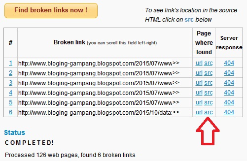 Mengatasi Error Page not Found dengan Broken Link Checker