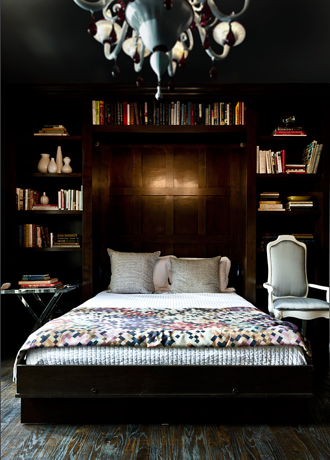 Simply home designs home interior design decor bookcases in the bedrooms - Interior design for dark rooms bright ideas ...