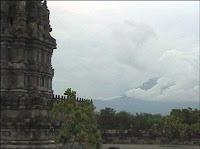 Merapi view from Prambanan - Indonesia