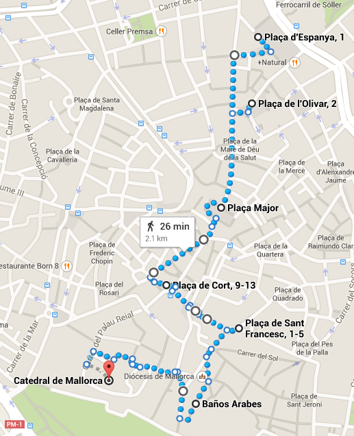 ruta palma plaza espanya catedral