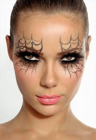 maquillaje mujer araña