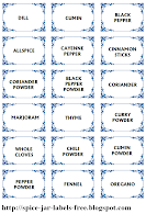Spice jar labels and template to print free 1