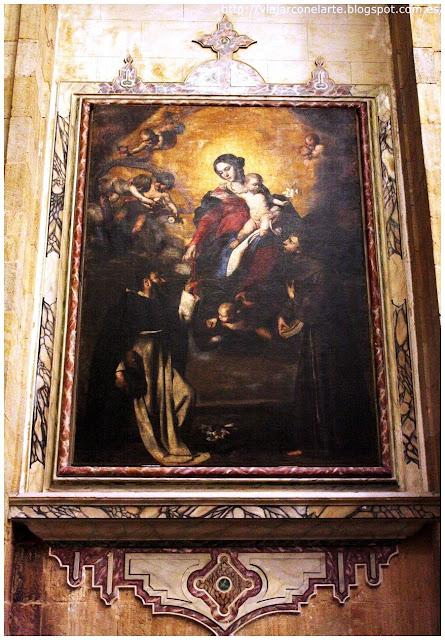 Virgen del Rosario entre Santo Domingo y San Antonio de Maximo Stanzione
