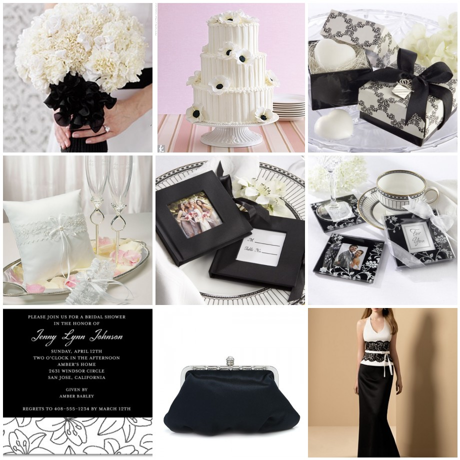 Prepare Wedding Dresses A Black And White Wedding Theme For