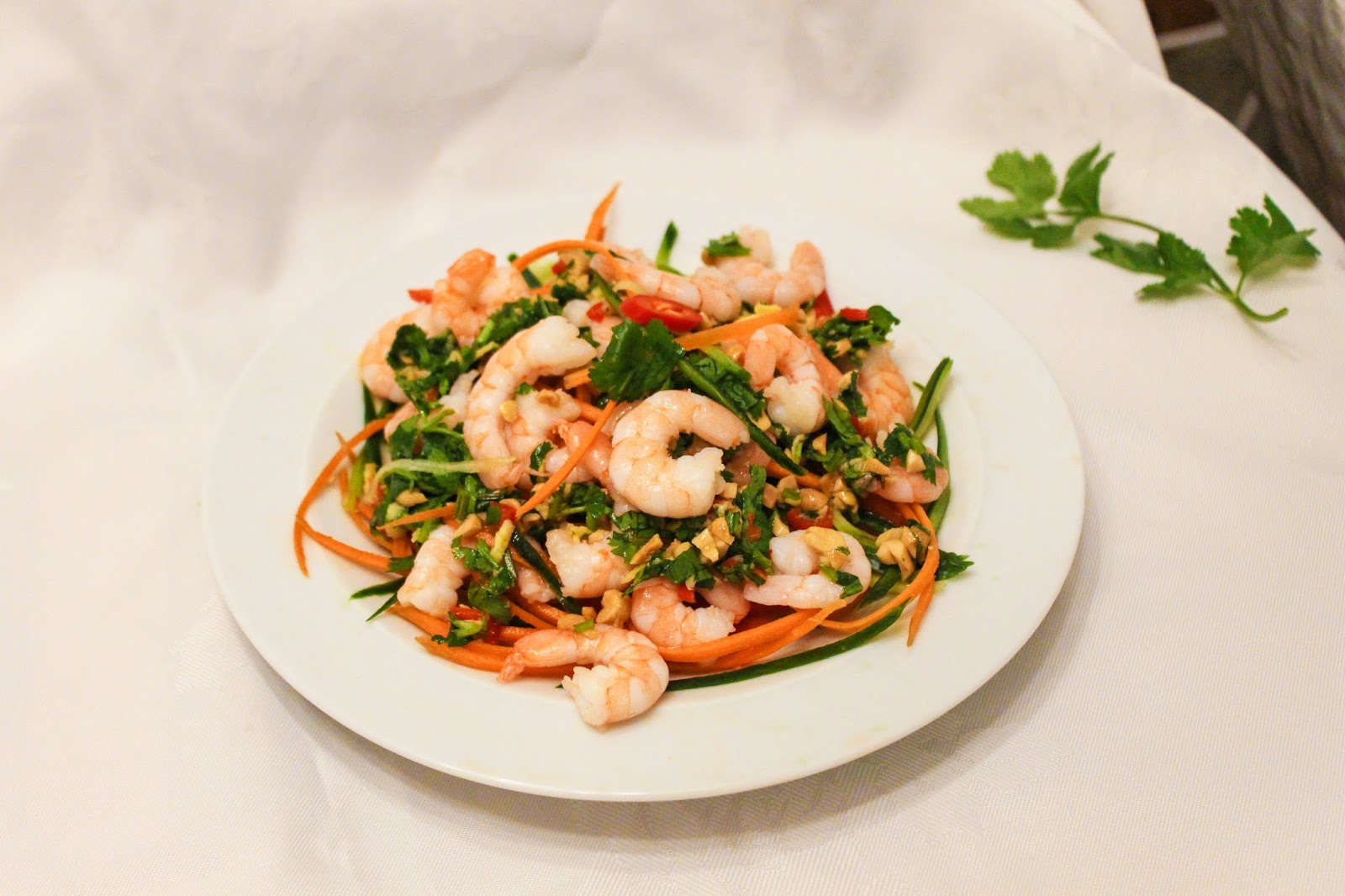 how to make hot prawn salad