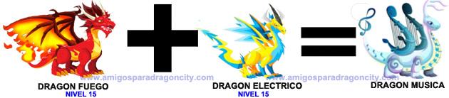como sacar el dragon musica en dragon city combinacion 2
