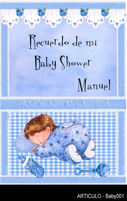 Graficando la Vida - Imanes y Tarjetas para eventos: Baby Shower