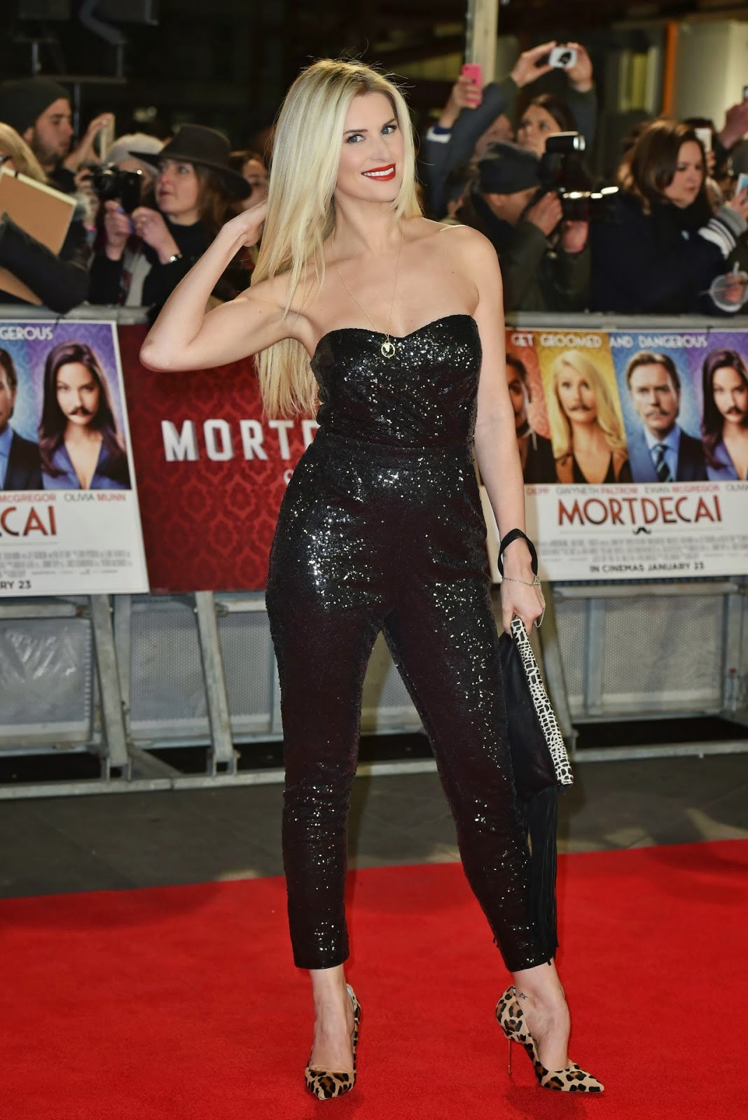 Actress,Model: Sarah Jayne Dunn - Movie Premiere 'Mortdecai' In London