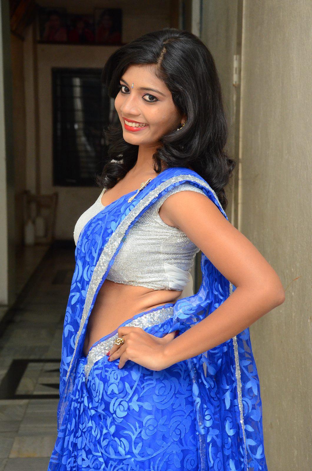 Bindhu latest sizzling saree pics-HQ-Photo-9