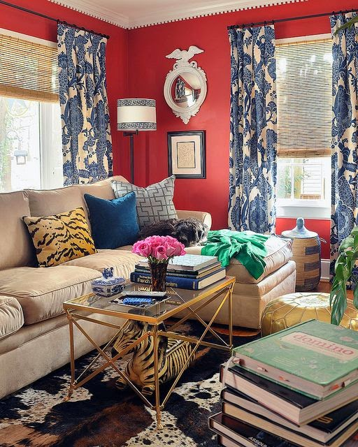 Here You Have The Color Associated With Preppy Interiors But The Collected  Look Needed To Pull Off The Preppy Eclectic Style.