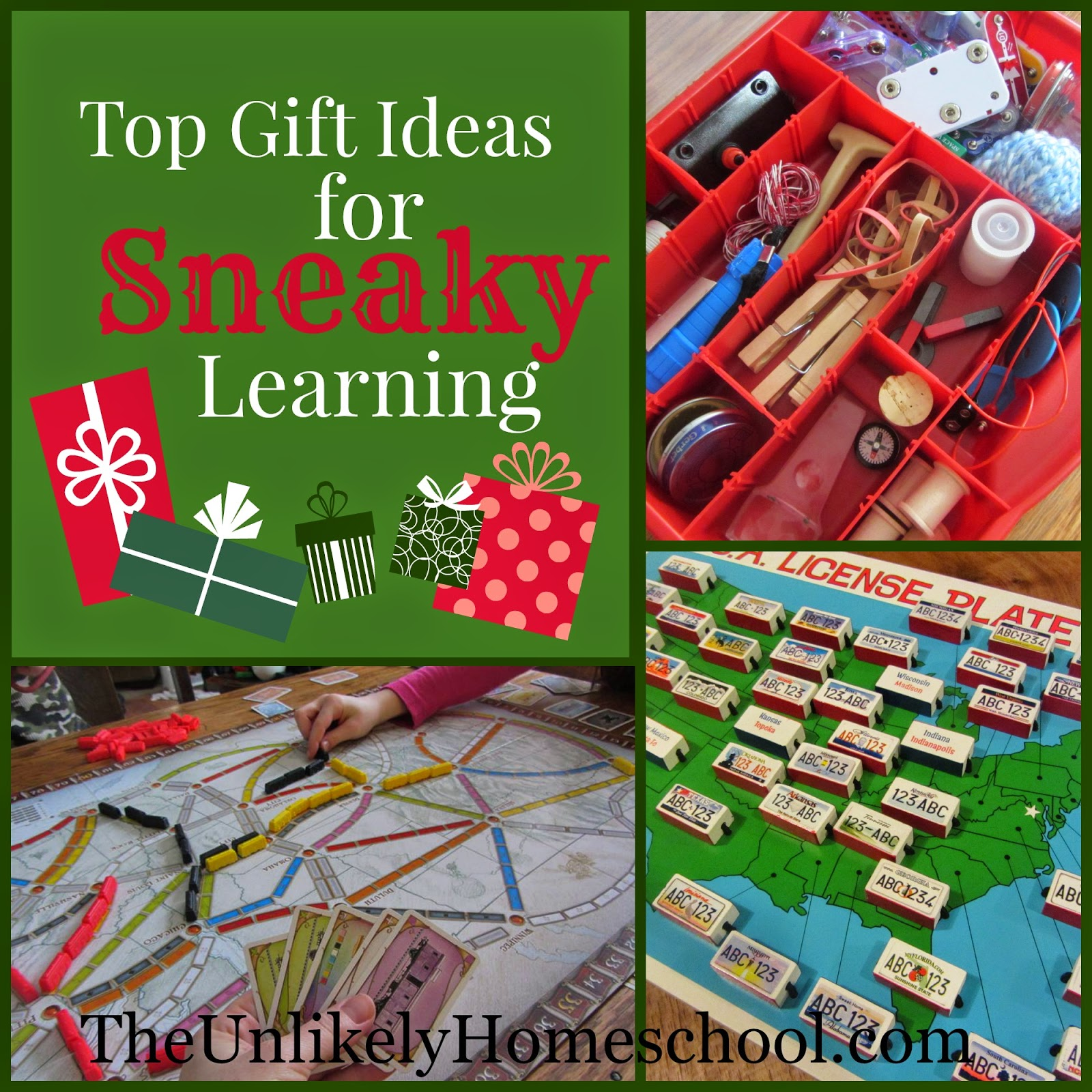 the unlikely homeschool top gift ideas for sneaky learning