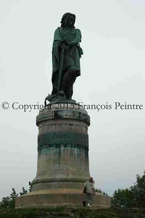 Alésia la statue de Vercingétorix