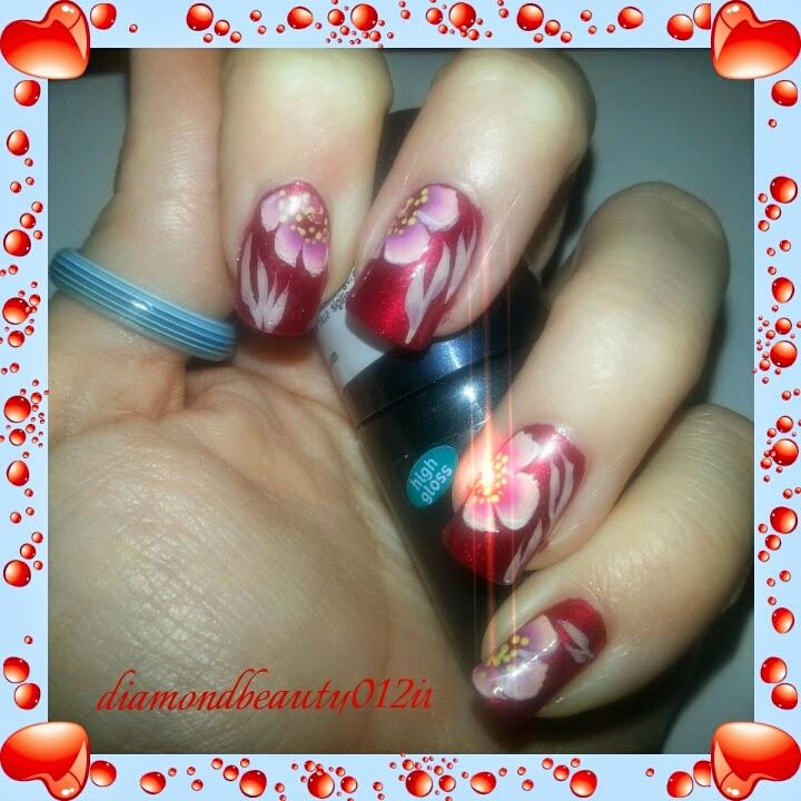 tutorial fiori nail art san valentino