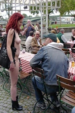 Crazy Exhibitionist Janine Roams Public Streets Naked - Nip Activity