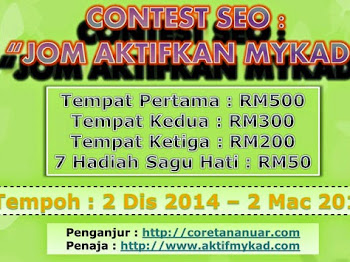 Contest SEO : Jom Aktifkan Mykad