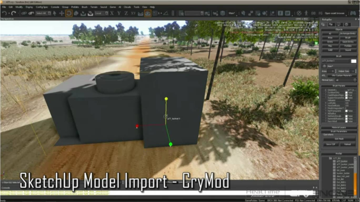 Realtime immersive technology demo for more realistic for Sketchup import