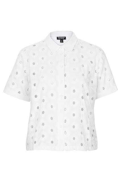 white circle shirt