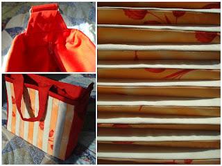 handmade accordion fan bag with zipper