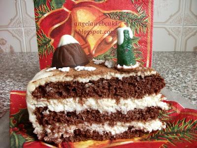 egy szelet karácsonyi finomság a kókuszos Mont Blanc tortából