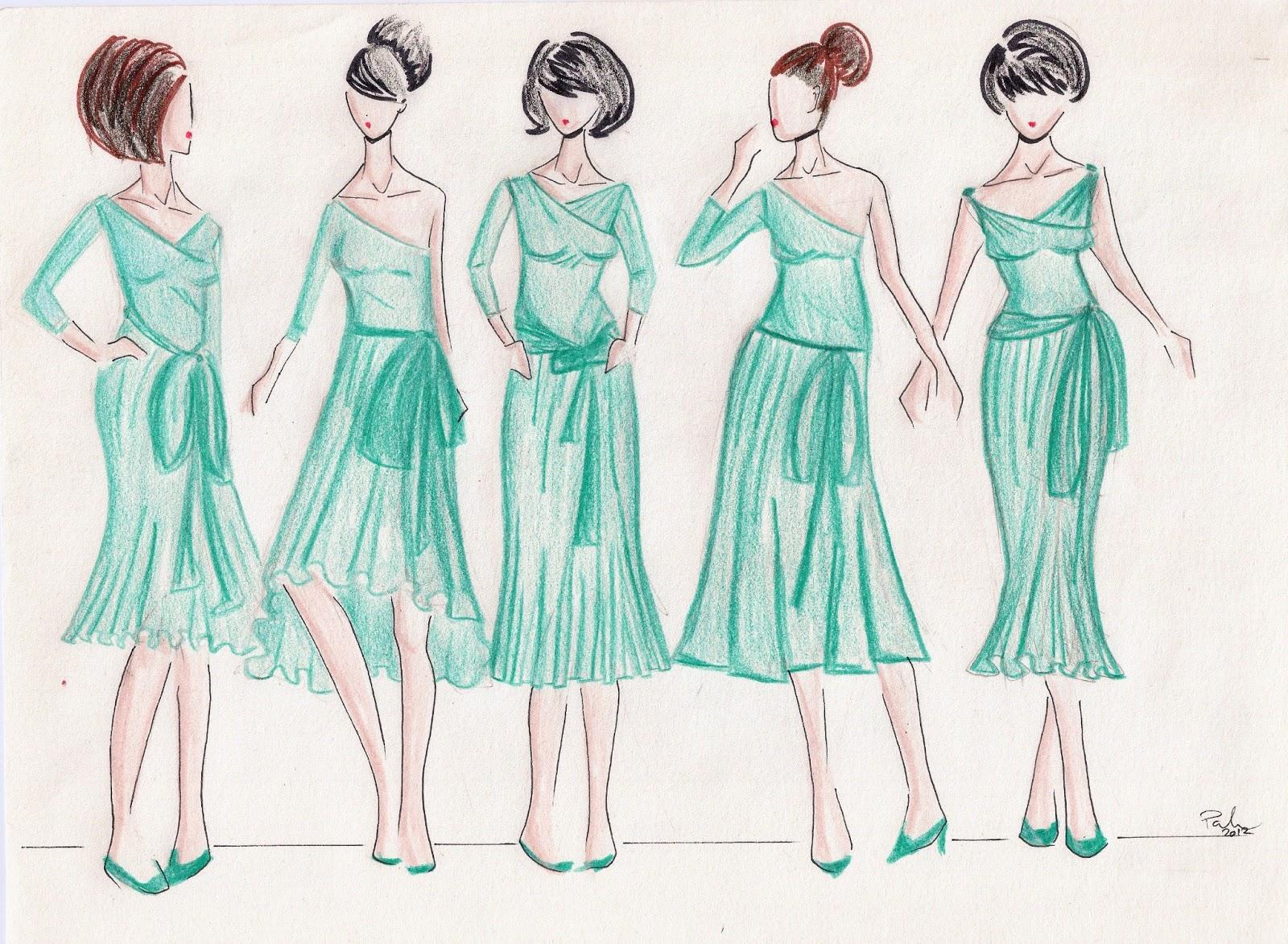 Chapela: Party Dress Sketches