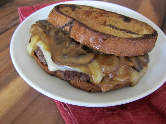 Mushroom and Provolone Patty Melts