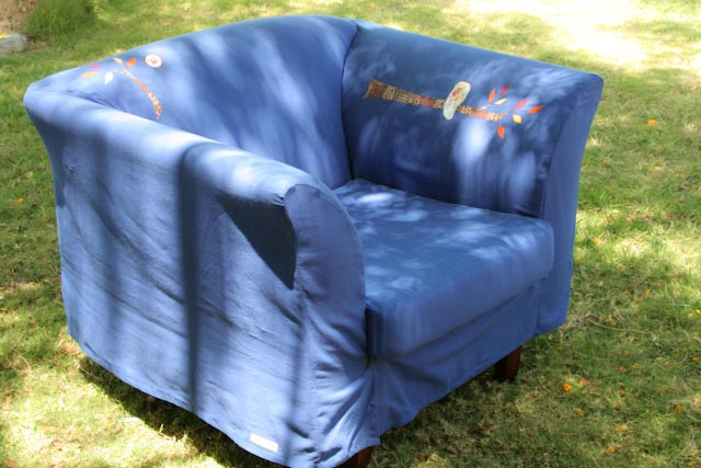 The U0027upcyclingu0027 Involved Making A Removable Cover That Fits Reasonably  Snugly Over The Chair, Recovering The Box Ish Shaped Cushion, And Then  ...because I ...