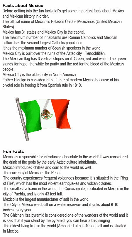 Mexico info for kids