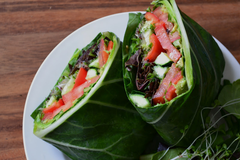 Nourish The Roots Eating Raw And Collard Wraps