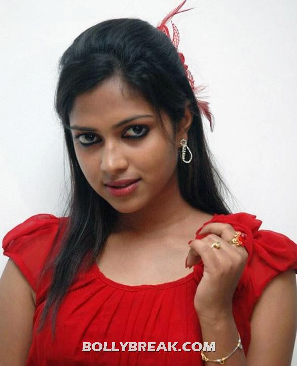 Amala Paul in Red Top - Amala Paul in Red TOP