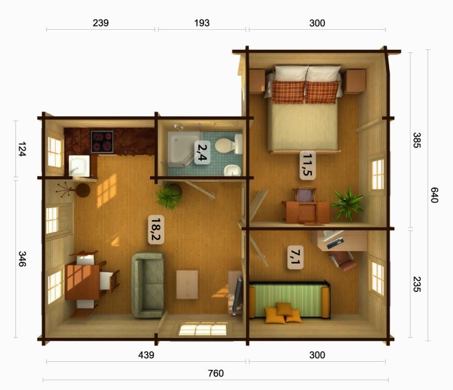 Casas de madera baratas bungalow de madera modelo emily for Casetas de madera para jardin baratas