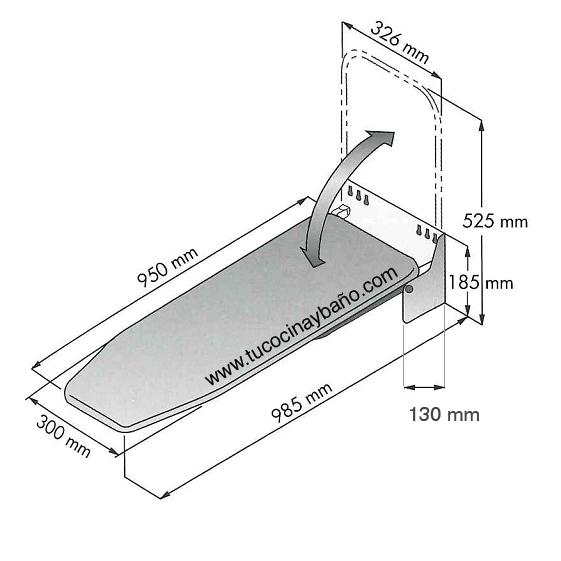 Mueble para tabla de planchar dise os arquitect nicos for Mueble planchador ikea