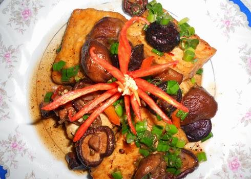 Cách làm đậu phụ om nấm hương ~ Món chay ngon 4
