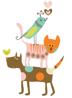 bird cat dog limited edition prints greeting cards stationery Liz and Pip Ltd