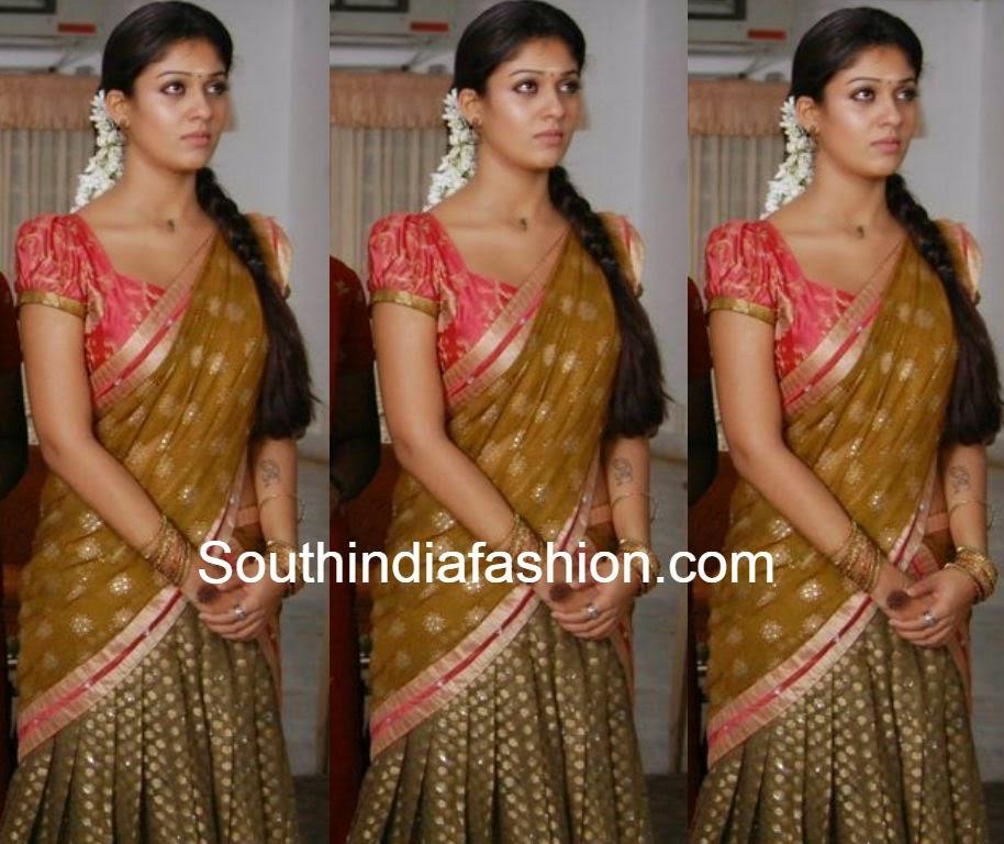 nayanthara in half saree