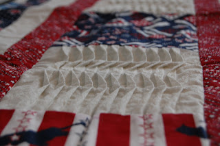 pleating detail on table runner