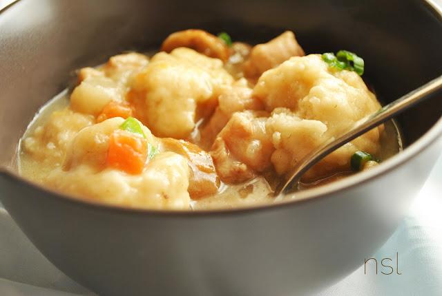 Natural simple living: Chicken + Dumpling Soup