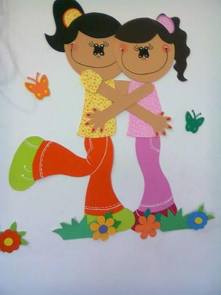 EL ARTE DE EDUCAR: NIÑO Y NIÑA EN GOMA EVA ( PASO A PASO)