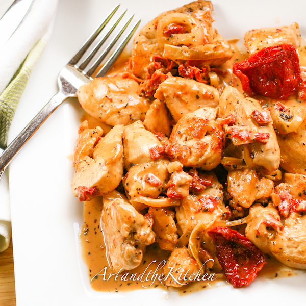 Chicken with Sun-Dried Tomato Sauce | Art and the Kitchen