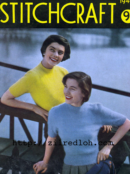 Free 1940's Knitting Pattern angora sweater