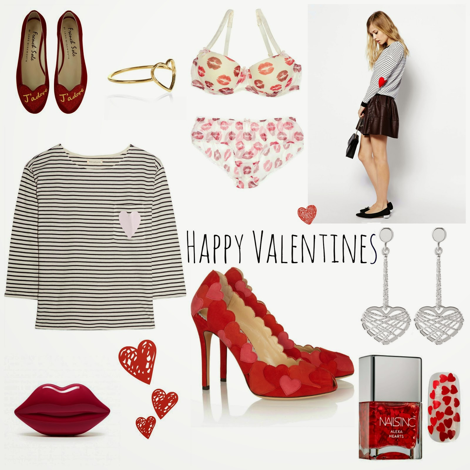 mamasVIb | V. I. BABYMAMAS: Valentine's Day style - Are you (fashion) ready for Love? | valentines day | valentine | gift | what to wear | sexy clothes | style | fashion | mimi holliday | oliver bon as | accessorise | charlotte Olympia | asks | french sole | adore | sexy |romance | love heart print | kiss print | lingerie | lulu guiness | lips |lips print | handbag | heels | mamasVIb | stylist