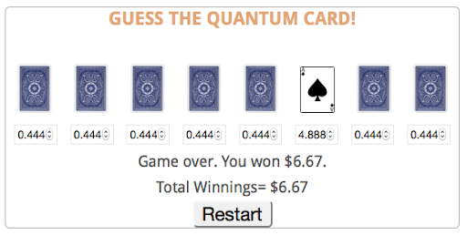 Quantum Gambling Game