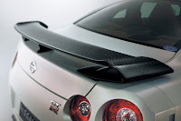 2012 MY Nissan GT-R Égoïste official press media photo image picture high resolution original source facelift revised new generation enhanced restyled special exclusive edition carbon rear spoiler diffuser wing aerofoil tailfin aerodynamics drag