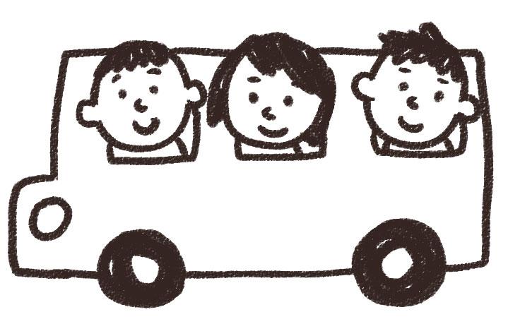 バス旅行・遠足のイラスト: ゆ ...