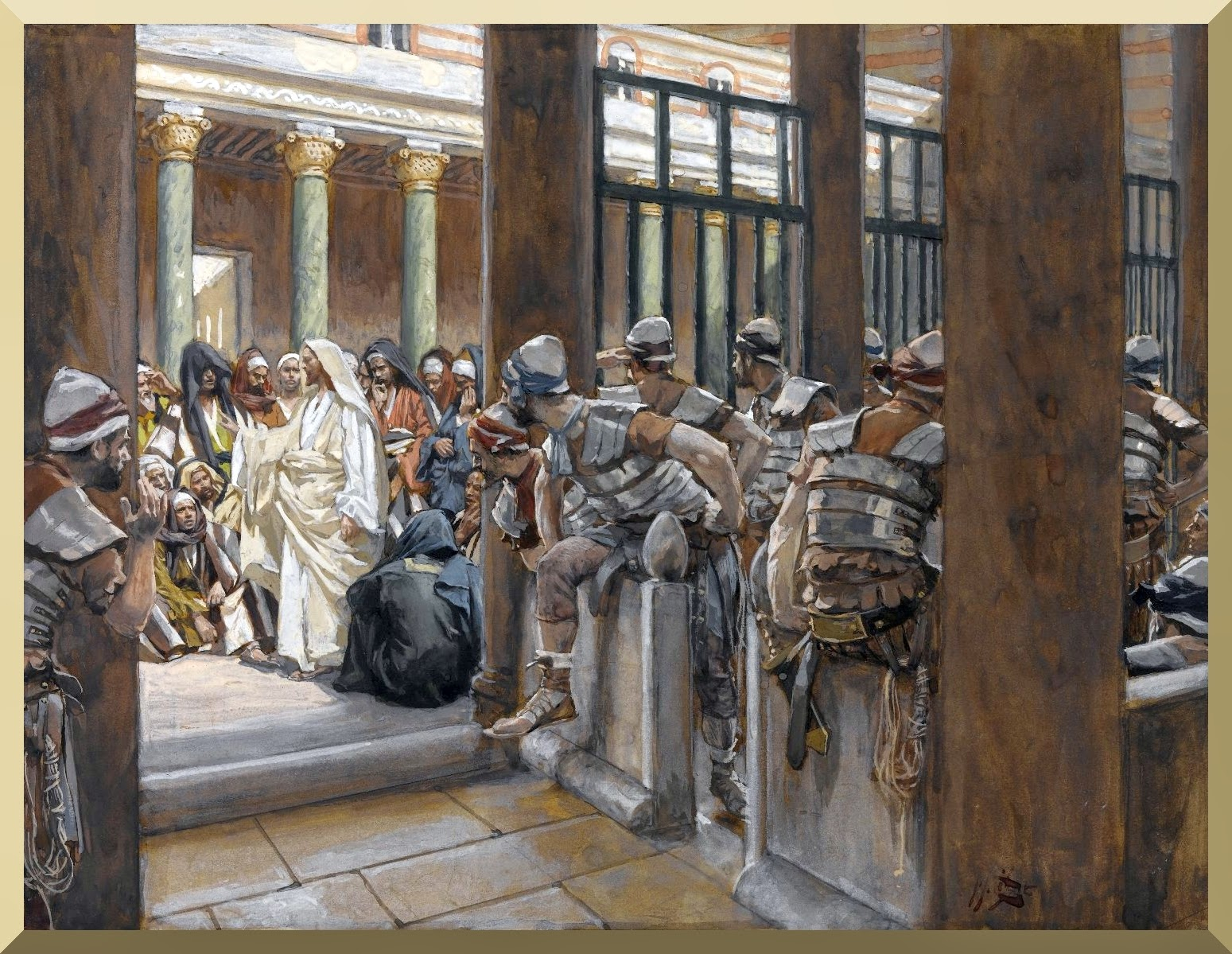 """But No Man Laid Hands Upon Him"" -- by James Tissot"