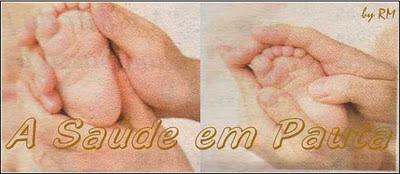 Shantala nos pés do bebê